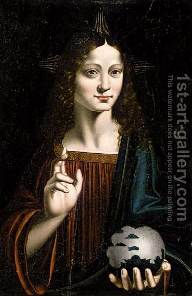 Salvator Mundi by (after) Marco D'Oggiono - Reproduction Oil Painting