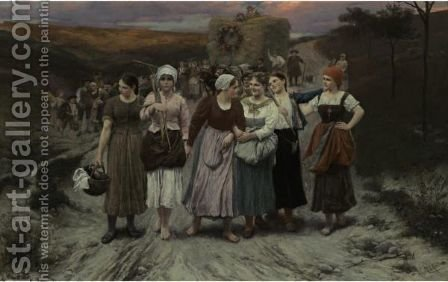 The Harvest Festival by Alfred Seifert - Reproduction Oil Painting