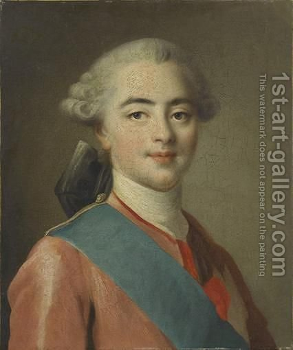 Portait De Louis Stanislas-Xavier De France by (after) Franois-Hubert Drouais - Reproduction Oil Painting