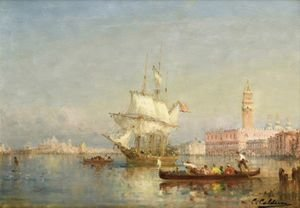 Reproduction oil paintings - Charles Clement Calderon - Vue De Venise