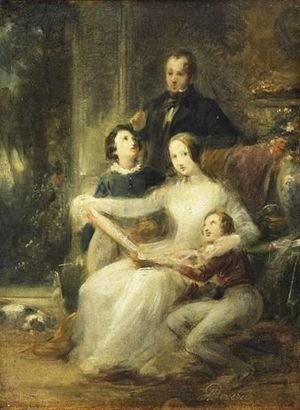 Reproduction oil paintings - Achille-Jacques-Jean-Marie Deveria - Portrait De Famille