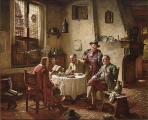 Reproduction oil paintings - Fritz Wagner - Amusing Stories