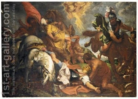 Saint Paul On The Road To Damascus by (after) Sir Peter Paul Rubens - Reproduction Oil Painting