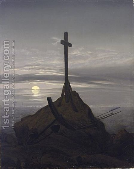 CROSS ON THE BALTIC SEA, 1815 COMPOSITION by (after) Friedrich, Caspar David - Reproduction Oil Painting