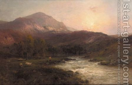 The Pass Of Leney, Callander by Alfred de Breanski - Reproduction Oil Painting
