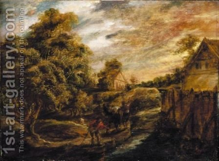 Evening Landscape by (after) Sir Peter Paul Rubens - Reproduction Oil Painting