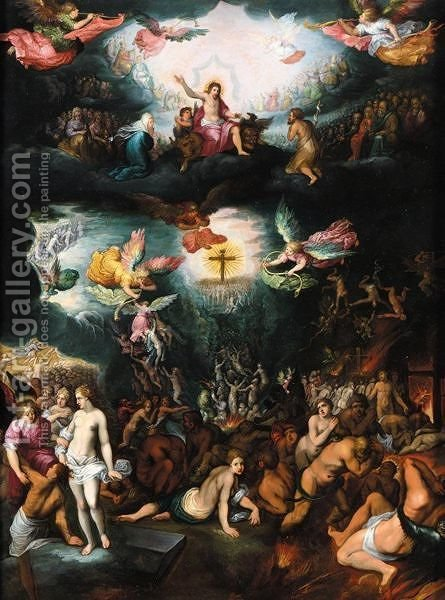 The Last Judgement by (after) Frans II Francken - Reproduction Oil Painting