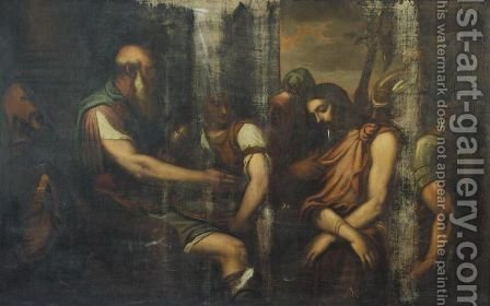 Christ Before Pontius Pilate by (Alessandro) Padovanino (Varotari) - Reproduction Oil Painting