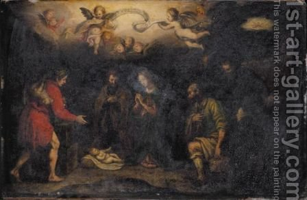 The Adoration Of The Shepherds by (after) Lodovico Cardi Cigoli - Reproduction Oil Painting