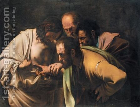 The Incredulity Of St. Thomas by (after) Michelangelo Merisi Da Caravaggio - Reproduction Oil Painting