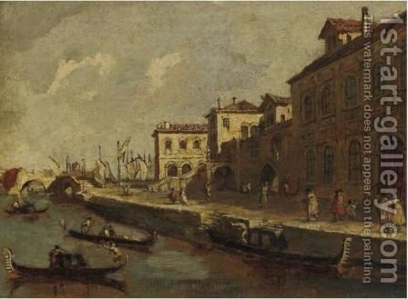 View Of Venice by (after) Francesco Guardi - Reproduction Oil Painting