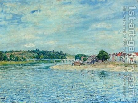 La Seine A Saint-Mammes by Alfred Sisley - Reproduction Oil Painting