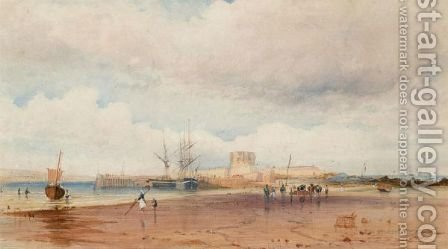 Fort St. Aubyn, Jersey by Alexandre T. Francia - Reproduction Oil Painting