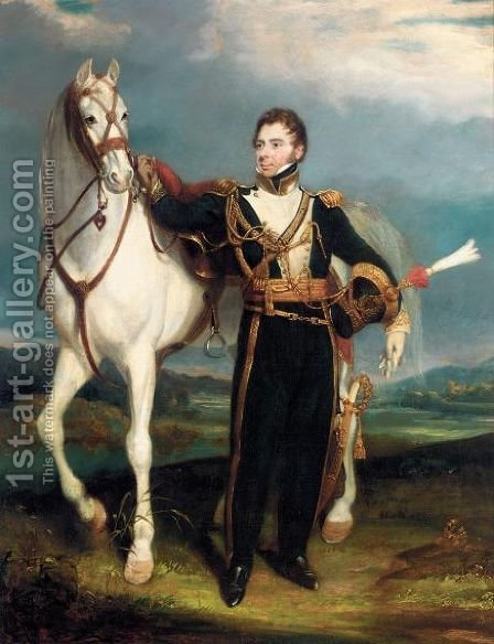 Portrait Of A Cavalry Officer by (after) Martens, Henry - Reproduction Oil Painting