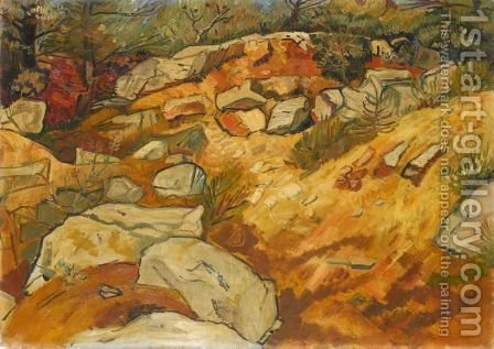 Rocks And Shingle by Abraham Mintchine - Reproduction Oil Painting