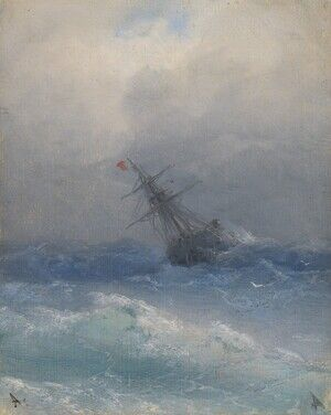 Reproduction oil paintings - Ivan Konstantinovich Aivazovsky - Ship On High Seas 2