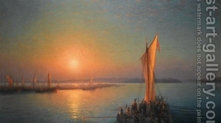 The Varangians On The Dnieper by Ivan Konstantinovich Aivazovsky - Reproduction Oil Painting