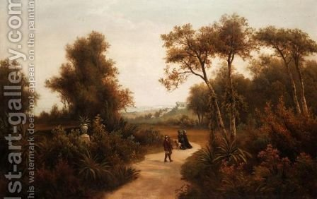 Near Athens by J. Borger - Reproduction Oil Painting