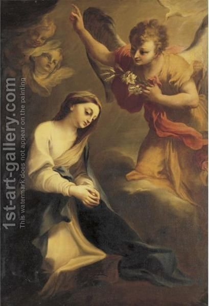 The Annunciation by (after) Stefano Maria Legnani - Reproduction Oil Painting