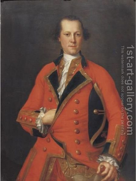Portrait Of Captain Robert Orme (1725-1790) by (after) Hudson, Thomas - Reproduction Oil Painting