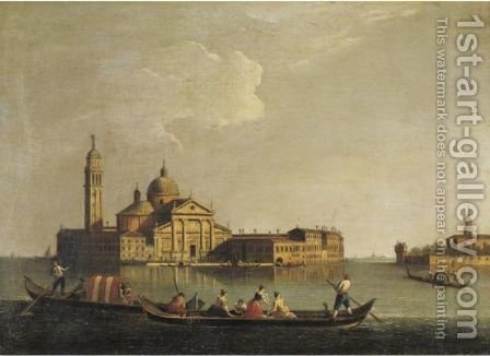 View Of San Giorgio Maggiore, Venice by (after) Johann Richter - Reproduction Oil Painting