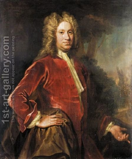 Portrait Of Charles, 9th Lord Elphinstone (1676-1738) by (after) Sir John Baptist De Medina - Reproduction Oil Painting