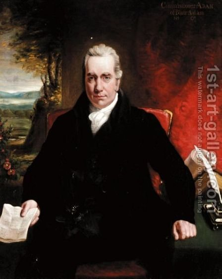 Portrait Of William Adam Of Blair Adam, Lord Chief Commissioner (1751-1839) by (after) Sir Henry Raeburn - Reproduction Oil Painting