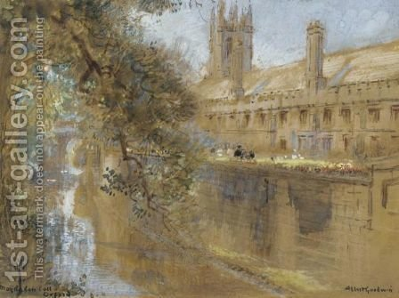 Magdalen College, Oxford by Albert Goodwin - Reproduction Oil Painting