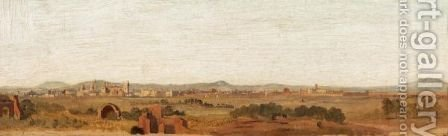 Landscape With A Town In The Distance by (after) Giovanni Costa - Reproduction Oil Painting