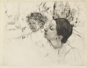 Reproduction oil paintings - Mary Cassatt - By The Pond 2