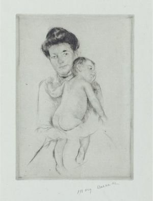 Reproduction oil paintings - Mary Cassatt - Mother Holding Nude Baby