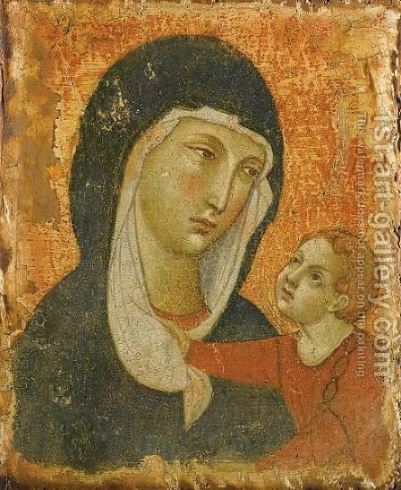 The Madonna And Child by (after) Duccio Di Buoninsegna - Reproduction Oil Painting