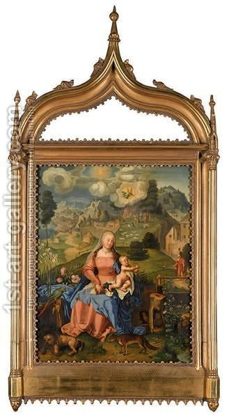 The Madonna And Child In A Landscape by (after) Durer or Duerer, Albrecht - Reproduction Oil Painting