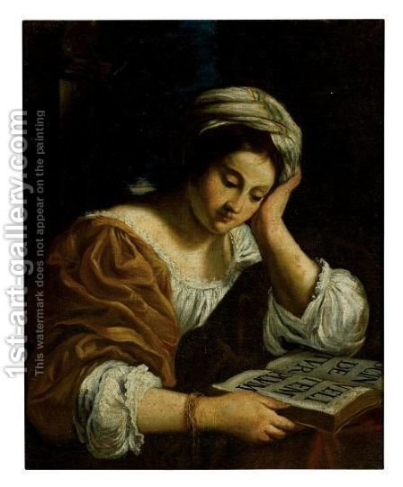 A Sibyl by (after) Simone Cantarini (Pesarese) - Reproduction Oil Painting