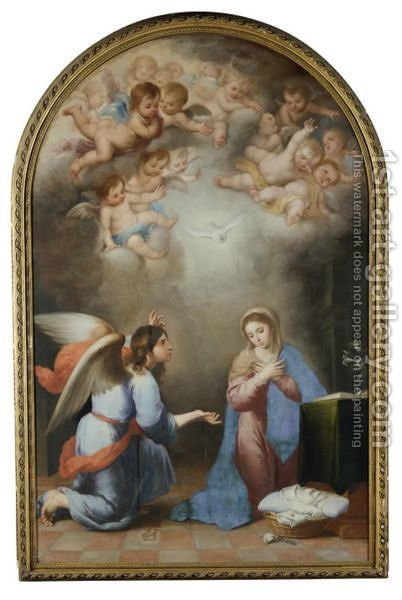 The Annunciation by (after) Murillo, Bartolome Esteban - Reproduction Oil Painting