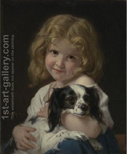 Best Friends by Hugues Merle - Reproduction Oil Painting