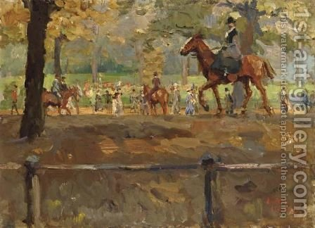 Hyde Park, Rotten Row, London 2 by Isaac Israels - Reproduction Oil Painting