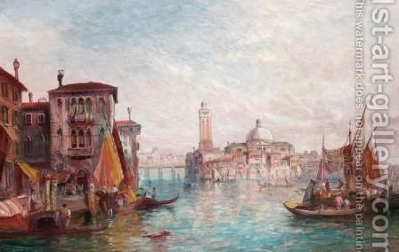 St Pietro Di Castillo, Venice by Alfred Pollentine - Reproduction Oil Painting