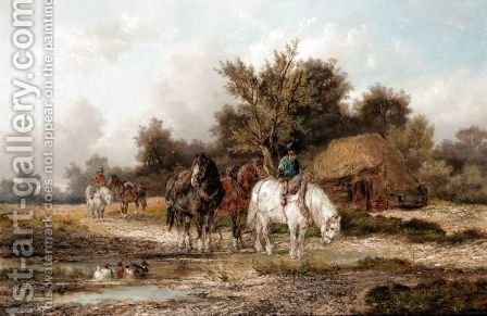 A Pause For Water by Alexis de Leeuw - Reproduction Oil Painting