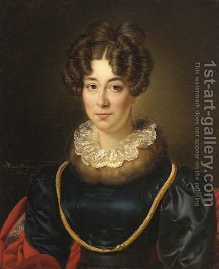 A Portrait Of Mrs. Johanna Barbara Archer-Rendorp, by Alexandre-Jean Dubois Drahonet - Reproduction Oil Painting