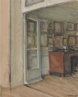 Reproduction oil paintings - Walter Gay - The Artist's Study, 11, Rue De L'universite