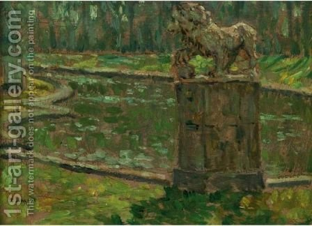 Le Bassin Dans Le Parc De Saint Cloud by Henri Eugene Augustin Le Sidaner - Reproduction Oil Painting
