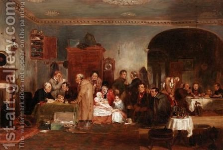 Rent Day 2 by (after) Sir David Wilkie - Reproduction Oil Painting