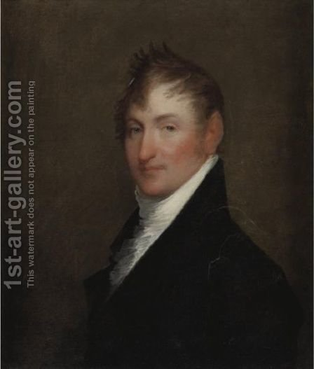 Portrait Of A Gentleman 6 by (after) Gilbert Stuart - Reproduction Oil Painting