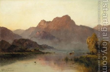 Evening Mists by Alfred de Breanski - Reproduction Oil Painting