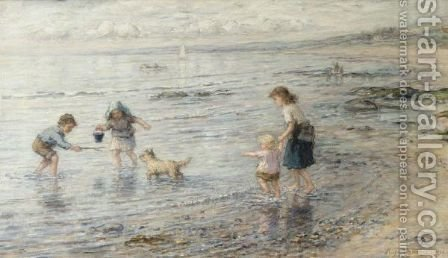 The Timid Bather, Largo Bay by Hugh Cameron - Reproduction Oil Painting