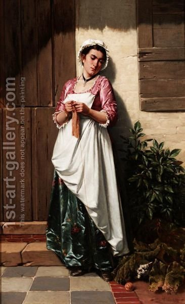 Lying In Wait by Albert Glibert - Reproduction Oil Painting