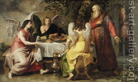 Abraham And The Three Angels by (after) Willem Van, The Elder Herp - Reproduction Oil Painting