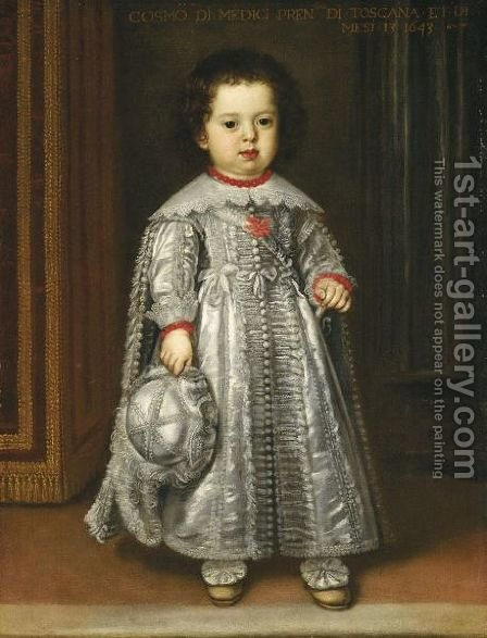 Portrait Of Cosimo De'Medici III (1642-1723) by (after) Justus Sustermans - Reproduction Oil Painting