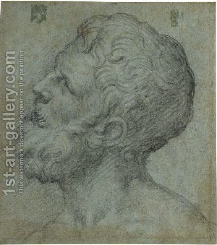 Head Of A Man, Looking Upwards To The Left by Giuseppe della Porta Salviati - Reproduction Oil Painting